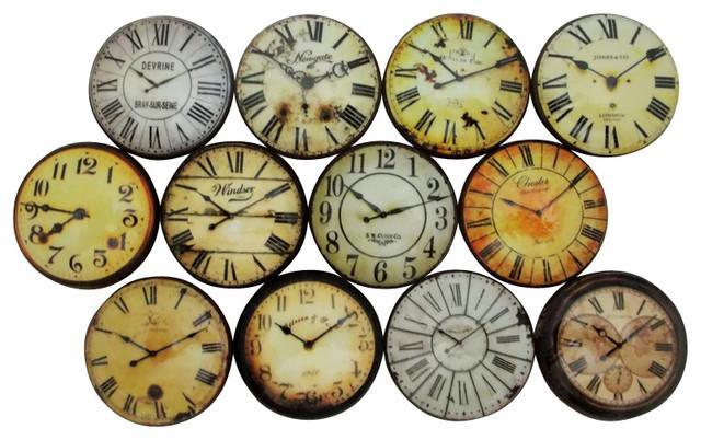antique clockface cabinet knobs 12 piece set traditional