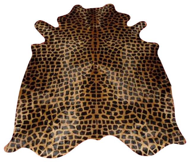 Giraffe Cowhide Standard Brown On Caramel Select Brazilian