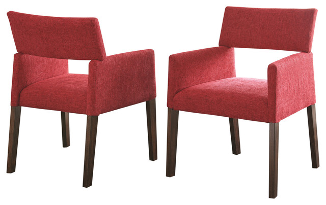 Amalie Side Chairs, Set Of 2, Red.