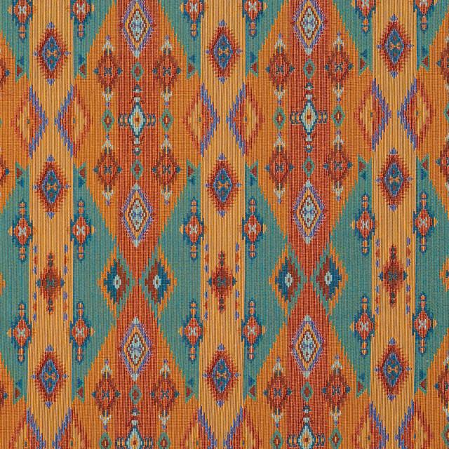 Southwestern Stripes And Diamonds Woven Novelty Upholstery