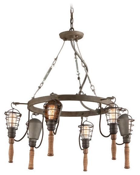 Troy Lighting Yardhouse Rusty Galvanized Pendant Industrial Pendant Lighting By Littman Bros Lighting