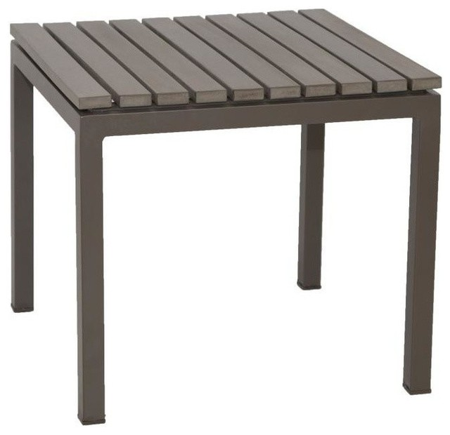 Riviera Outdoor Faux Wood End Table