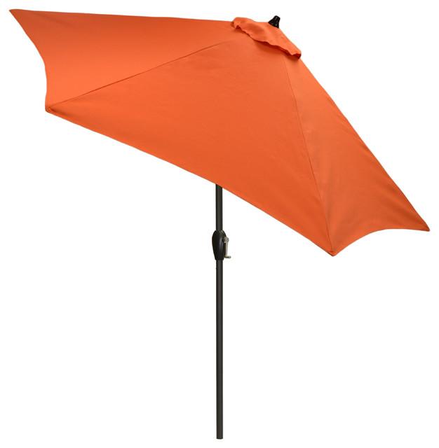 e4f4561a87dc 9' Round Outdoor Patio Umbrella with Black Pole, Orange