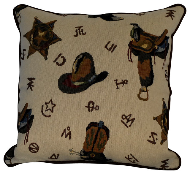 Decorative Western Throw Pillows : Just The Right Pillow Western Cowboy Throw Pillow - Decorative Pillows Houzz