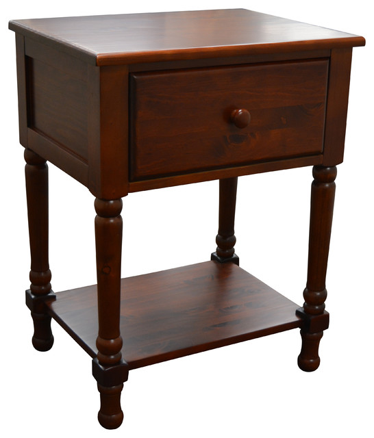 Mantua Traditional Nightstand, Cherry.