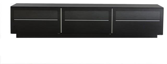 Modrest Landon Contemporary Black Tv Stand.