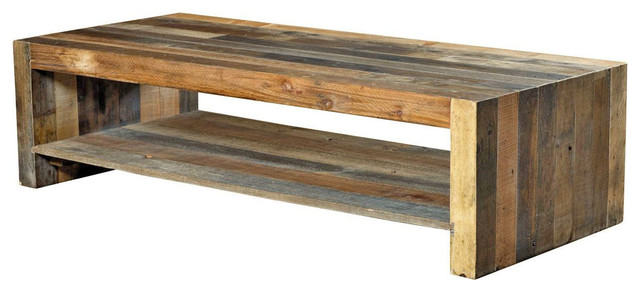 Merveilleux Wynn Rustic Lodge Reclaimed Wood Coffee Table