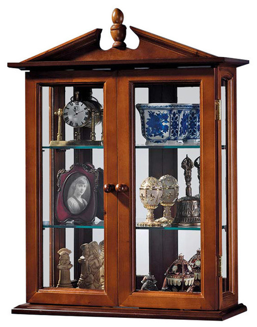 Amesbury Manor Hardwood Wall Curio Cabinet - Traditional - Accent Chests And Cabinets - by ...