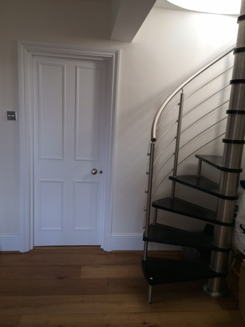 Superior Need Help   Spiral Staircase That Leads To Guest Room With No Privacy