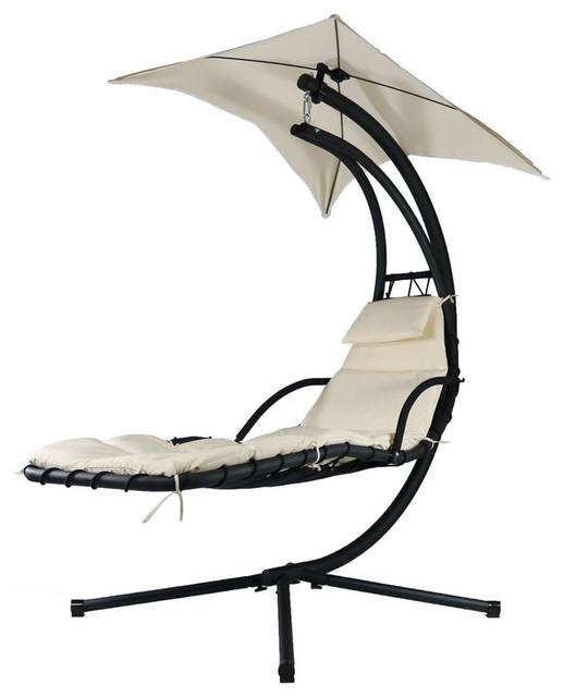Sunnydaze Decor Sunnydaze Floating Chaise Lounger Swing