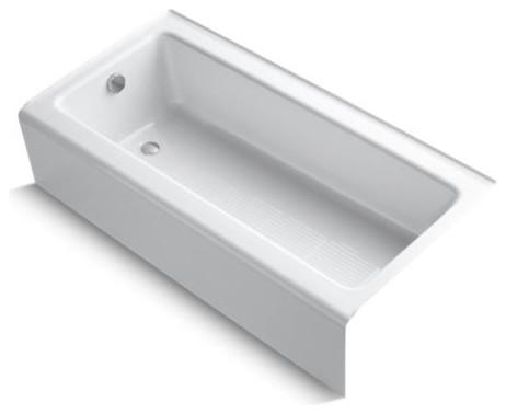 "Kohler Bellwether 60"" X 30"" Alcove Bath w/ Left-Hand Drain, White"