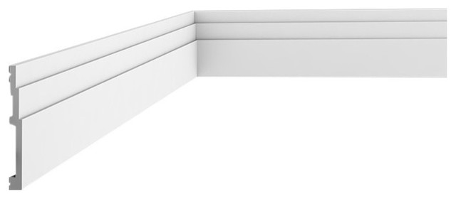 Orac Decor Plain Duropolymer Baseboard Moulding, Rigid Moulding.