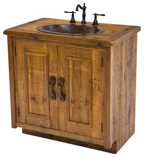 wood vanity with hand hammered copper sink bathroom vanities and rh houzz com  bathroom vanity with copper vessel sink