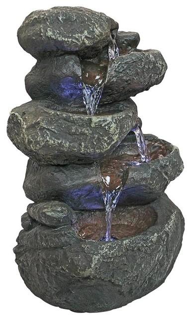 Anchor Falls Cascading Garden Fountain