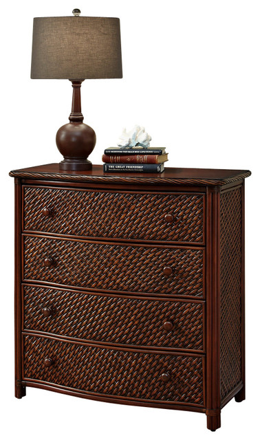 Shop Houzz Home Styles Furniture Marco Island Drawer Chest Refined Cinnamon Finish Accent