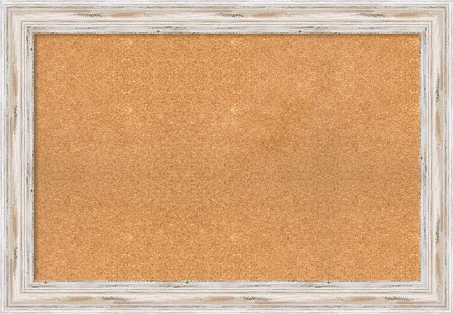Framed Cork Board Small Large Alexandria Whitewash Wood