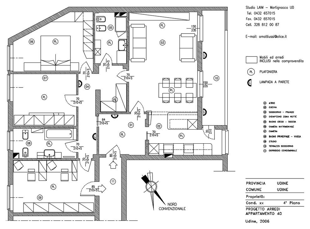 Progettazione arredi e distribuzione degli spazi