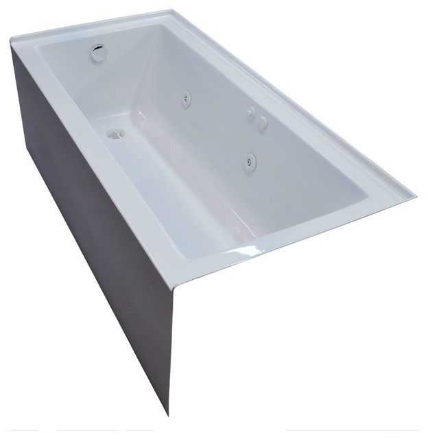 Pontormo 30 X 60 Front Skirted Whirlpool Drop In Bathtub With Left Drain
