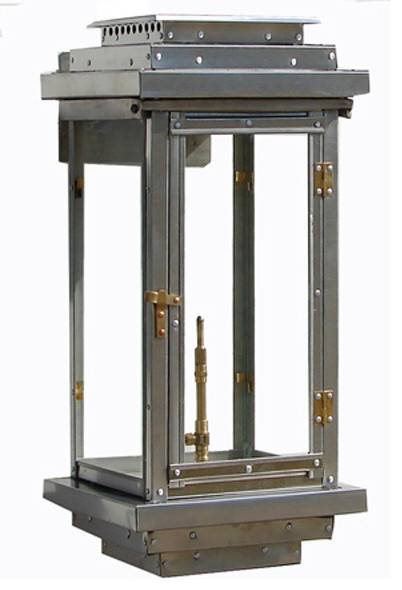 Stainless Steel Contemporary Lantern 18u0026quot; - Industrial - Outdoor Wall Lights And Sconces - by Gas ...