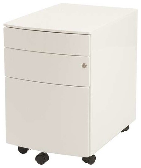 ... Floyd Ppf Filing Cabinet, White Finish contemporary-filing-cabinets