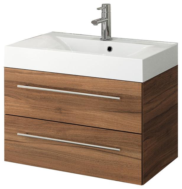 Starlight Red Walnut Vanity With Nadja Resin Basin 28 Scandinavian Bathroom Vanities