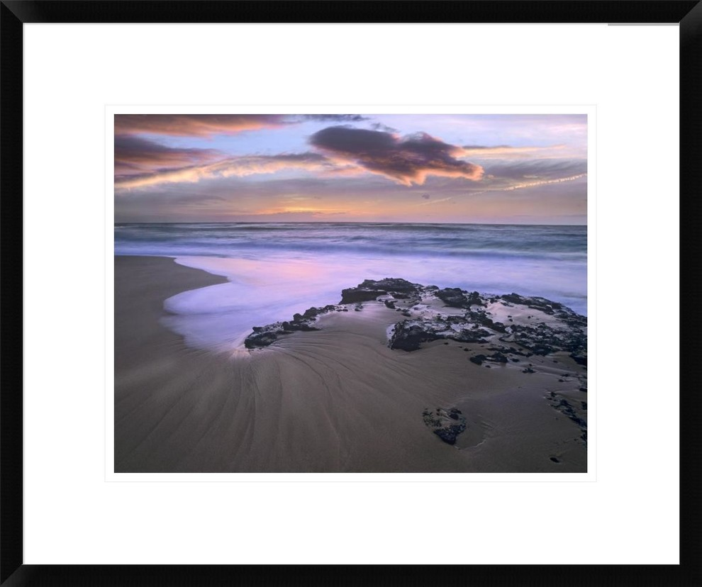 Sandy Beach Oahu Hawaii Framed Digital Print By Tim Fitzharris 24x20 Beach Style Prints And Posters By Global Gallery