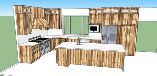 forever kitchen designed in sketchup what do you think - Sketchup Kitchen Design
