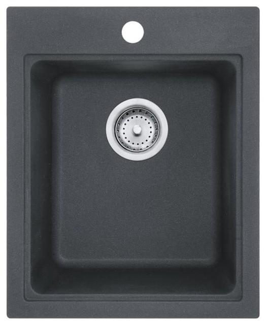 Franke Szgr1720-1 Quantum Single Basin Undermount/drop, Granite 10007 Sink.