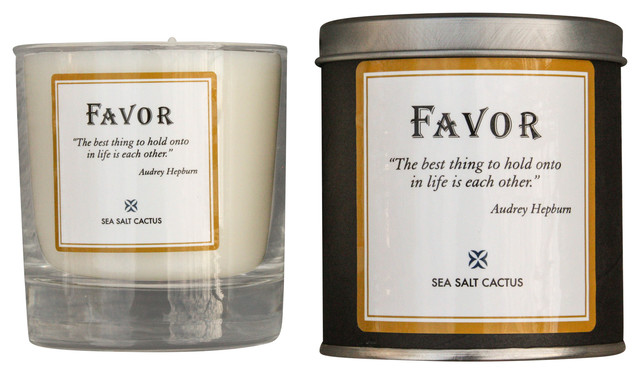 Sea Salt Cactus Audrey Hepburn Candle traditional-candles