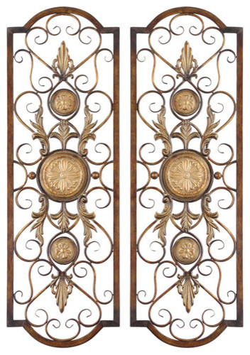 Metal Medallion Wall Art uttermost 13475 micayla set of 2 medallion accent metal wall art