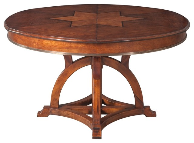 Austin Jupe Dining Table Old World Walnut Finish Medium