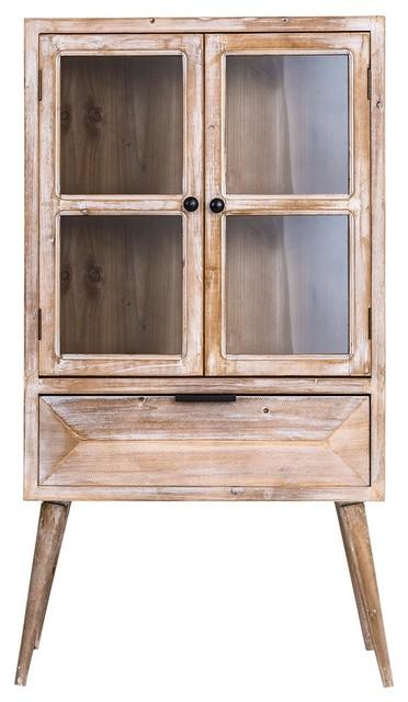 Dunas Natural Wood Display Cabinet