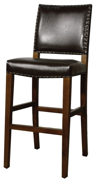 New Pacific Direct Inc Rowan Bonded Leather Bar Stool