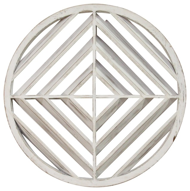 Stratton Home Decor White Wood Modern Medallion Wall Art Farmhouse Wall Accents By First Of A Kind Usa Inc
