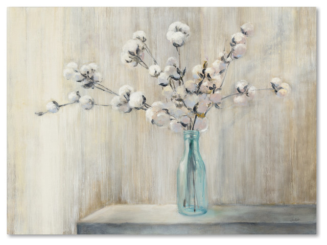 "Julia Purinton &x27;cotton Bouquet&x27; Canvas Art, 35"" X 47"". -1"