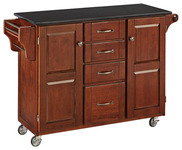 create a cart cherry finish with wood top transitional