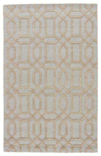 jaipur living bellevue handmade trellis blue ivory area rug