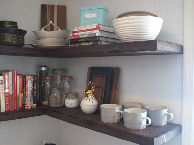 Floating shelves from reclaimed wood - Farmhouse - New York - by ...