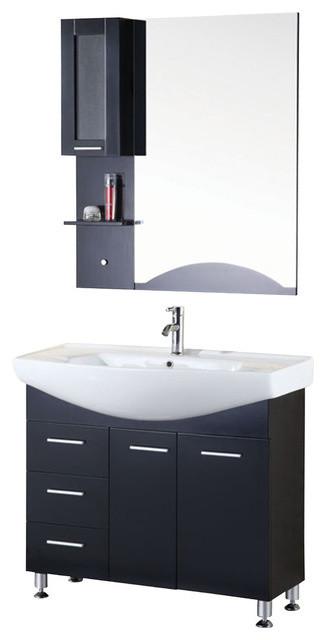 """Sierra 40"""" Single Sink Vanity Set, Espresso."""