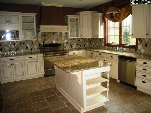 what color of wall paint would look good with cream glazed kitchen