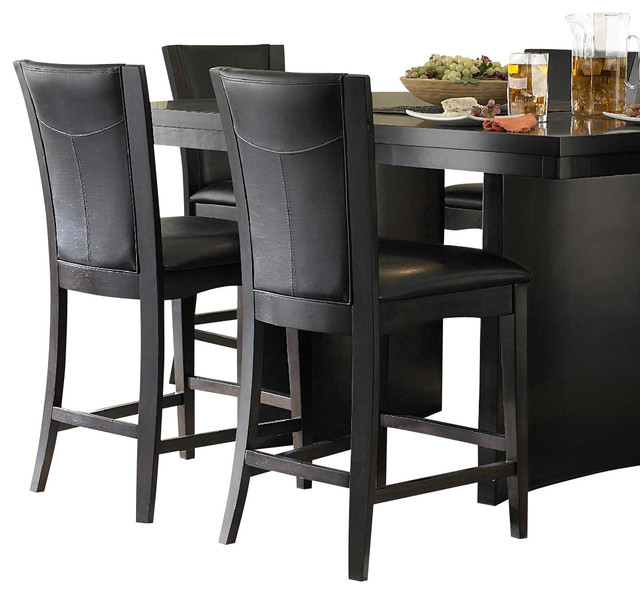 Homelegance Daisy Counter Height Chair In Espresso   Dark Brown  Transitional Bar Stools
