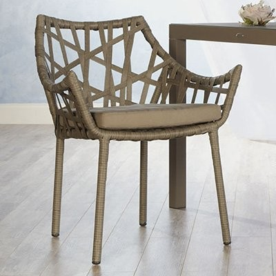Euro Style Gazelle Rattan Dining Arm Chair