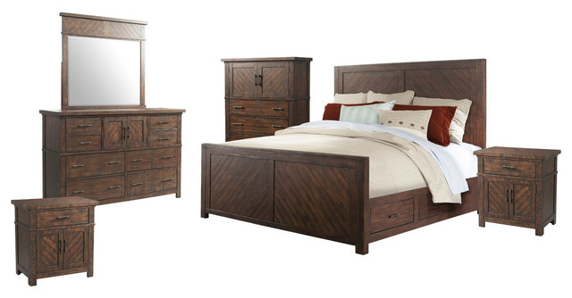 Dex King Platform Storage 6-Piece Bedroom Set