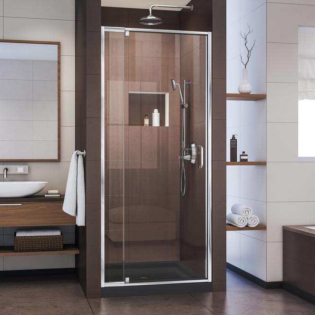 Flex 28-32x72 Semi-Frameless Pivot Shower Door by DreamLine