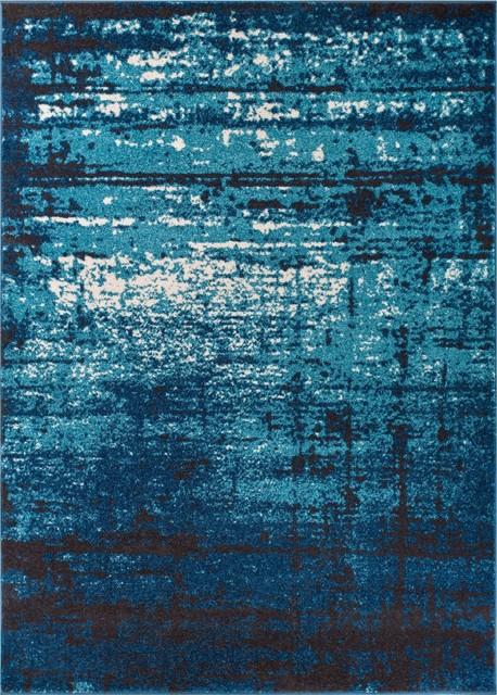 Well Woven Sydney Vintage Blue Area Rug, 7&x27;10&x27;&x27;x10&x27;6.