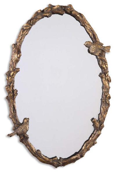 Uttermost 13575 P Paza Oval Vine Gold Mirror.