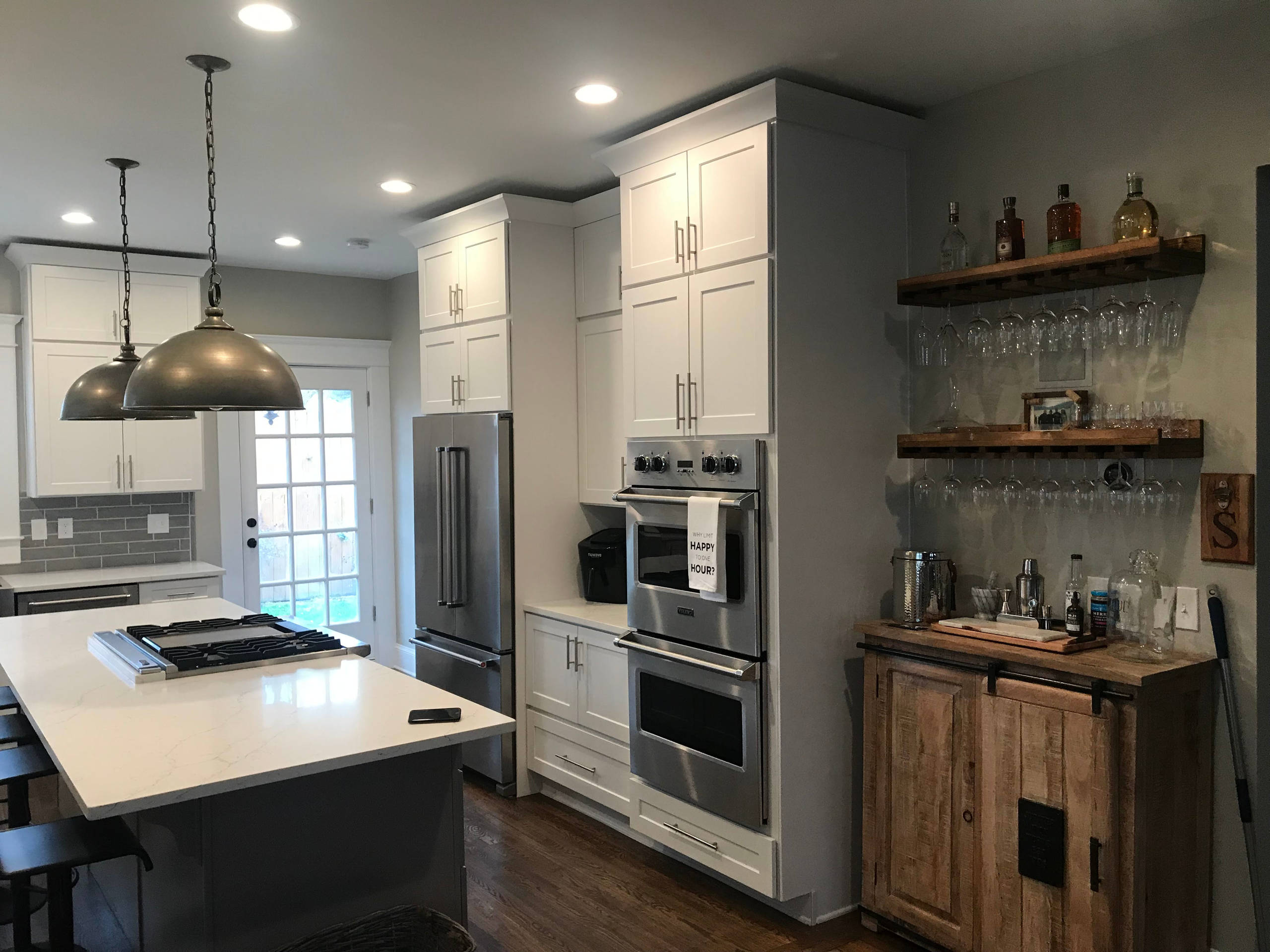 Beautiful Grey and White Custom Kitchen