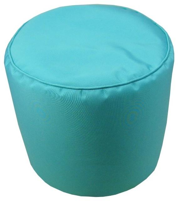 Strange Sunbrella Canvas Aruba Indoor Outdoor Pouf 17X17 Machost Co Dining Chair Design Ideas Machostcouk