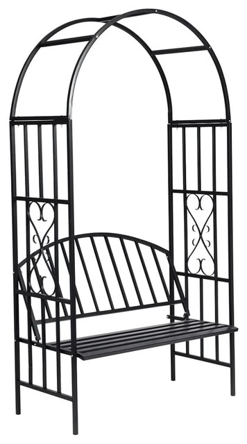 vidaXL Rose Arch With Bench