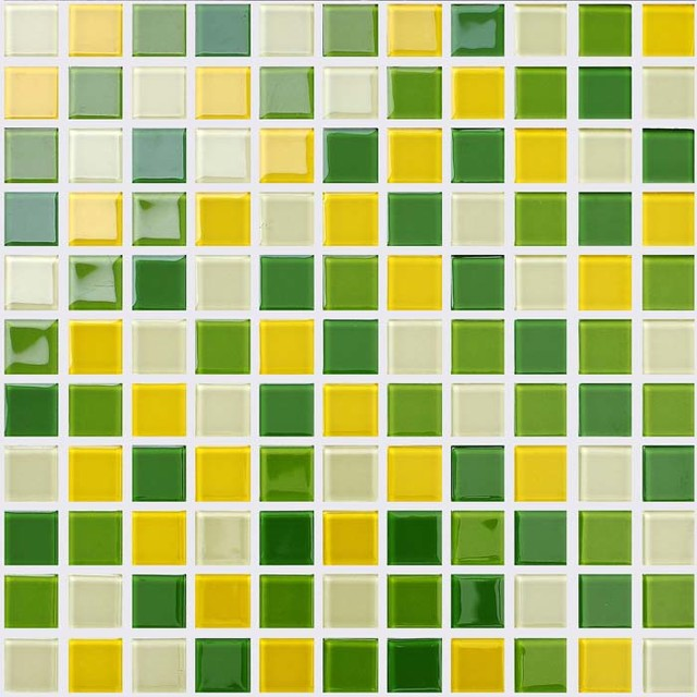 Green Yellow Crystal Gl Brick Pool Tile Bathroom Wall Stickers Modern